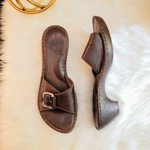 Born   7 Bola leather slide heel sandals NWOT